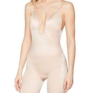 Suit your fancy Plunge Low-back  Body suit